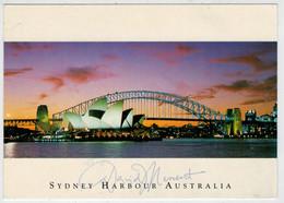 SYDNEY  OPERA  HOUSE  AND  HARBOUR  BRIDGE      2 SCAN       (VIAGGIATA) - Sydney