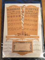 +++++ Affiche Originale WW1, ECHANGEZ Votre OR Contre Des BILLETS , I.M.P DRAEGER 1916 +++++ - Assignats & Mandats Territoriaux