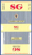 Portugal 1960 To 1970, Packet Of Cigarettes - SG Filtro / A Tabaqueira, Lisboa - Boites à Tabac Vides