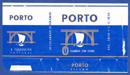 Portugal 1960 To 1970, Packet Of Cigarettes - PORTO Dark Blue / A Tabaqueira, Lisboa - Empty Tobacco Boxes