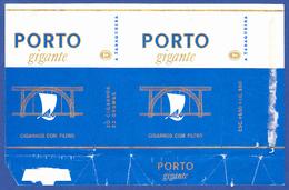 Portugal 1960 To 1970, Packet Of Cigarettes - PORTO Gigante / A Tabaqueira, Lisboa - Empty Tobacco Boxes