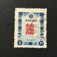 ◆◆◆Manchuria (Manchukuo) 1937   New Year   Complete  USED   AA1192 - 1932-45 Manchuria (Manchukuo)