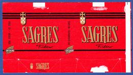 Portugal 1960 To 1970, Packet Of Cigarettes - SAGRES / Intar, Sintra Lisboa - Esc. 3$50 + $50 - Empty Tobacco Boxes