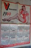 Calendrier 1949 V Magazine Pin Up Ill J David 28,7 X 36 Cm (magazine Adulte) - Otros