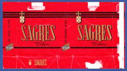 Portugal 1960 To 1970, Packet Of Cigarettes - SAGRES / Intar, Sintra Lisboa - Esc. 3$50 + 1$00 - Empty Tobacco Boxes
