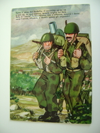 HUMOR     MILITARE  NAIA  LEVA  ITALIA    NON   VIAGGIATA  COME DA FOTO Militaria - Humor