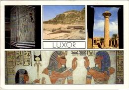 EGYPTE EGYPT Poste Aérienne 208 (o) Carte Postale Luxor Temple De Hatsepsut Deir-el-Bahar Karnak Pharaon - Poste Aérienne