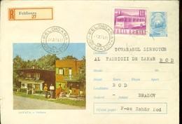 Romania, Cover, Stationery, Code 381-70, Sovata, Recommande - Postal Stationery