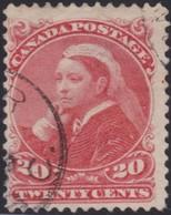 Canada        .     SG    .    115   .     O    .   Cancelled   .   /    .     Gebruikt - 1851-1902 Regering Van Victoria