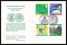 """1992 - UK - Salvation Army - Greenford Corps On The """"Green"""" FDC 1992 - 1991-2000 Em. Décimales"""
