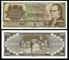 Paraguay P216b, 10,000 Guaranis, Dr. José Francia / Decl Of Indep UNC $20 CV! - Paraguay