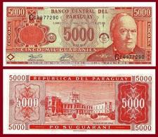Paraguay P220, 10,000 Guaranis, Don Carlos Antonio López / Palace UNC $10 Cat Val - Paraguay