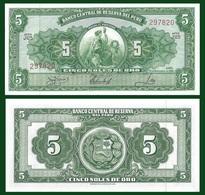 Peru P83a, 5 Soles, Seated Liberty Allegorical / Arms 1966 Perfect, De La Rue - Peru