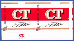 Portugal 1960 To 1970,  TOBACCO SEIZED BY THE TREASURY,  FORBBIDEN SALE - CT Filtro / Intar, Sintra Lisboa - Empty Tobacco Boxes