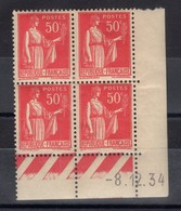 FRANCE COIN DATE N° 283 (1934) ** NEUF. VOIR - Francia