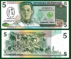 Philippines P176a, 5 Piso, Emilio Aguinaldo / Independence Commemorative UNC - Philippines