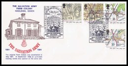 1991 - UK - The Salvation Army Farm Colony, Hadleigh, Essex - Maps FDC - 1991-2000 Em. Décimales