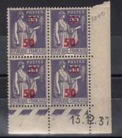 FRANCE COIN DATE N° 478 (1937) ** NEUF. VOIR - France