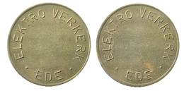 03354 GETTONE TOKEN JETON FICHA MACHINE UTILITY TOKEN ELEKTRO VERKERK EDE - Netherland