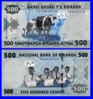 Rwanda P38, 500 Francs, Cows / Students With XO Laptops UNC See UV & Wm Images - Rwanda