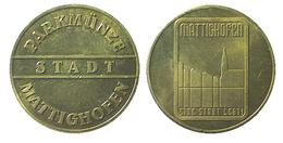 01591 GETTONE TOKEN JETON FICHA AUSTRIA PARCHEGGIO PARKING PARKMUNZE STADT MATTIGHOFEN - Unclassified