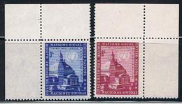 (UNID 16) UNITED NATIONS //  Y&T 58, 59, Bord De Feuille //  1958 - Ungebraucht