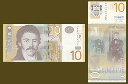 Serbia P54a 10 Dinars, Vuk Stefanović Karadžić; 1st Slavic Congress UNC SECURITY - Serbia
