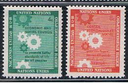 (UNID 11) UNITED NATIONS //  Y&T 62 , 63 //  1958 - Ungebraucht