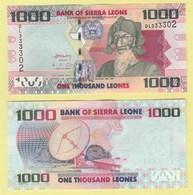 Sierra Leone P30a, 1000 Leones, Bai Bureh / Satellite Dish, $5 Cat Val ! UNC - Sierra Leone