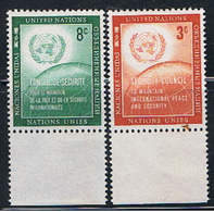 (UNID 6) UNITED NATIONS //  Y&T 52, 53 //  1951 - Ungebraucht