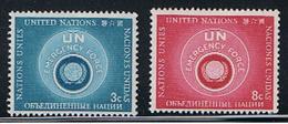 (UNID 4) UNITED NATIONS //  Y&T 50, 51 //  1951 - Ungebraucht