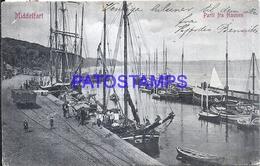 109588 DENMARK DANMARK MIDDELFART PARTY FROM THE PORT RAILROAD & SHIP CIRCULATED TO ARGENTINA POSTAL POSTCARD - Dänemark