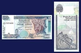 Sri Lanka P110, 50 Rupee, Kandyan Dancer / Butterfly, Temple UNC Bradbury See UV - Sri Lanka