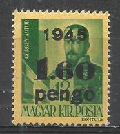 Hungary 1945. Scott #688 (M) Arthur Görgei * - Hongrie