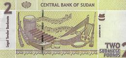 Sudan P71, 2 Pounds, Pottery / Musical Instruments, UV & W/M Image UNC SECURITY - Sudan