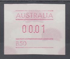 Australien Frama-ATM 4. Ausgabe 1987 Ameisenigel, Fehlverwendung Mit B-Nummer ** - Vignettes D'affranchissement (ATM/Frama)