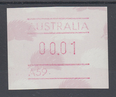 Australien Frama-ATM 4. Ausgabe 1987 Ameisenigel, Fehlverwendung Mit A-Nummer ** - ATM/Frama Labels