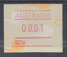 Australien Frama-ATM Kragenechse, Mit Automatennummer B76 ** - Vignettes D'affranchissement (ATM/Frama)