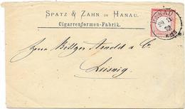 DR Brustschild Mi.19 EF Auf Brief M. K1 Hanau 1872 - Storia Postale
