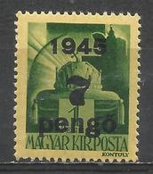 Hungary 1945. Scott #694 (M) Crown Of St. Stephen * - Hongrie