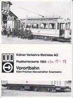 AK Kölner Verkehrs-Betriebe AG - Postkartenserie 1983- Vorortbahn Köln-Frechen-Benzelrather Eisenbahn - 8 Karten (40294) - Tramways