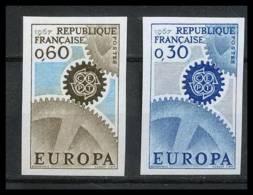 France N°1521/1522 Europa 1967 Non Dentelé ** MNH (Imperforate) - France
