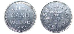 03680 GETTONE TOKEN JETON VENDING MERCHANDISE SKILLFUL WINNER RE CLAIM FOR MERCHANDISE ONLY ALU - United Kingdom