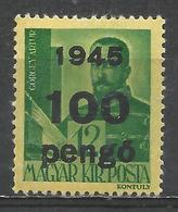Hungary 1945. Scott #698 (M) Arthur Görgei * - Hongrie