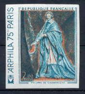 France N°1766 Tableau (Painting) Arphila 75 Cardinal Richelieu Essai Trial Color Proof Non Dentelé Imperforate ** MNH - Non Dentellati