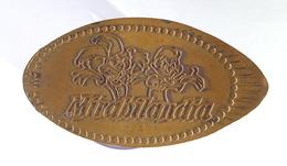 00496 GETTONE TOKEN JETON ADVERTISING PENNY SOUVENIR ELONGATED COIN AMUSEMENT PARK MIRABILANDIA - Elongated Coins