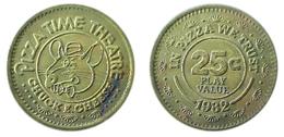 03719 GETTONE TOKEN JETON ADVERTISING VENDING CHUCK & CHEESE PIZZA TIME THEATRE 1982 - Estados Unidos