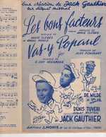 40 60 LA POSTE JACK GAUTHIER PARTITION LES BONS FACTEURS VAS-Y POPAUL CLÈRES MONIS HEESBEKE ACCORDÉON ORCHESTRE 1956 - Musica & Strumenti