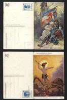 Set 2 Old Postcards PATRIOTIC Red Cross WWI WAR. Serie 2 CPA Association Des Dames Françaises LES CHANSONS De La FRANCE - Guerre 1914-18