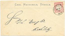 DR Brustschild Mi.19 EF Auf Brief M. K1 Döbeln 1873 N. Rochlitz - Deutschland